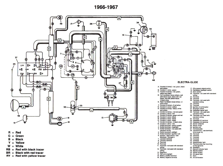 Mon Pan Shovel Harley 1966 1969 Fhl Wiring Diagram